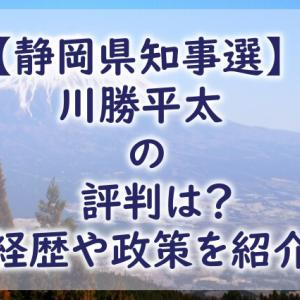 【静岡県知事選】川勝平太の評判は?学歴や経歴&政策まとめ!
