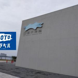 Go to トラベルで四国水族館に行ってきた。魚の餌やりに子供大満足!
