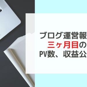 【ブログ運営報告】3ヶ月目のPV数、収益を公開【来月から新たな挑戦】