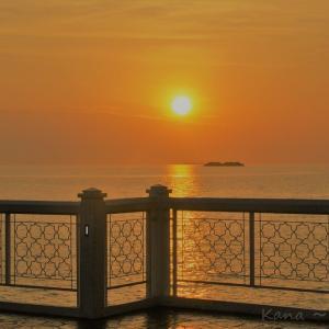"""◆旅レポート◆プラウメラカの水上モスクから見た""""マラッカ海峡に沈む夕陽""""◆「深夜特急」でおなじみ◆"""