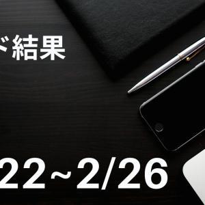 【2021年2/22~2/26】FXトレード結果【自動売買ときどき裁量とこれからの予想】