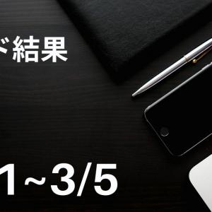 【2021年3/1~3/5】FXトレード結果【自動売買ときどき裁量とこれからの予想】