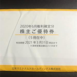 日本マクドナルドHDの株主優待が届きました。