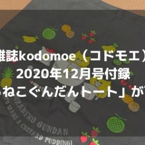 雑誌kodomoe(コドモエ)2020年12月号付録「のらねこぐんだんトート」が可愛い