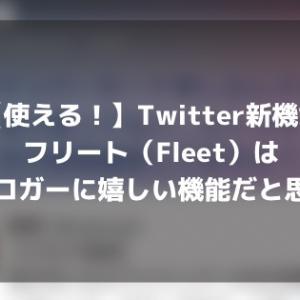 【使える!】Twitter新機能フリート(Fleet)はブロガーに嬉しい機能だと思う