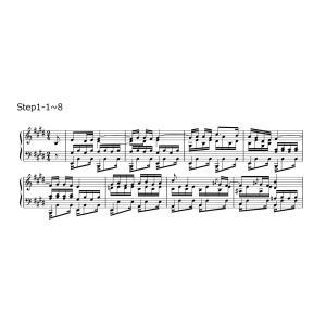 必ず弾ける「別れの曲」Step1 サンプル楽譜