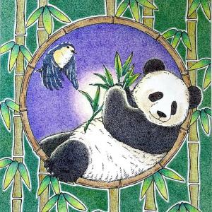 愛らしい動物たちのシンフォニー|パンダ(ポストカード)