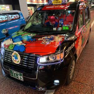 広島でカープタクシーに乗って来た。