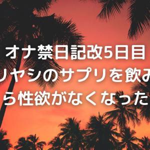 オナ禁日記改5日目 ノコギリヤシのサプリを飲み始めたら性欲がなくなった