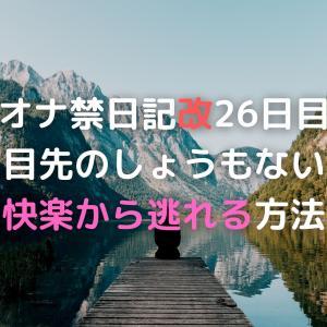 オナ禁日記改26日目 目先のしょうもない快楽から逃れる方法