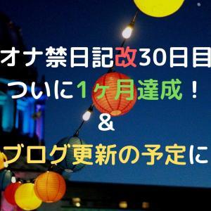 オナ禁日記改30日目 ついに1ヶ月達成!&今後のブログ更新の予定について