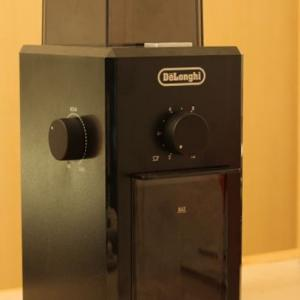 デロンギ KG79J うす式コーヒーグラインダーをレビュー。細かさの設定が簡単で、使いやすいです!