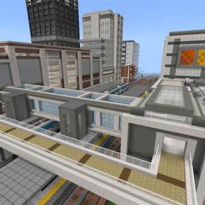 モノレールとその駅を作る part1 [Minecraft]