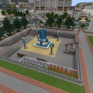 駅前に公園を作る [Minecraft]