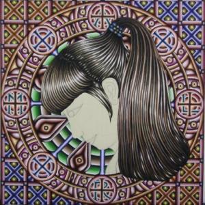 髪の毛の塗り方(光沢編)不透明水彩+卵メディウム