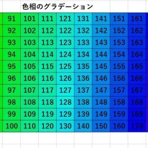 色をあやつる⑤.色相(色合い)のグラデーション