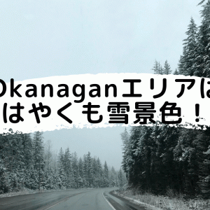 Okanaganエリアは早くも雪景色!10月積雪量過去最大になるかも