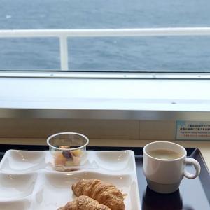 北海道キャンプツーリング 2021 フェリーの朝食・デッキの眺め