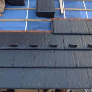 平板瓦葺き