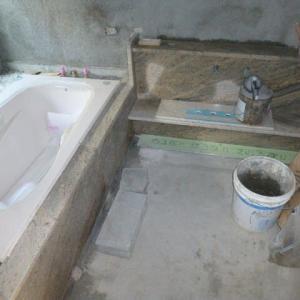 浴室の御影石貼
