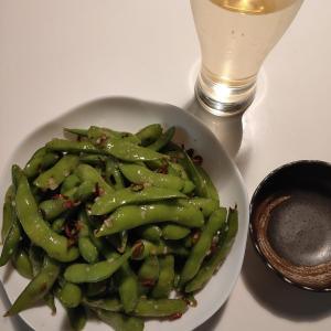【冷凍枝豆を使った簡単おつまみ】がっつりニンニクのペペロンチーノ枝豆!!