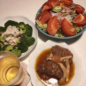 【圧力鍋使用】牛ロース肉の赤ワイン煮込み