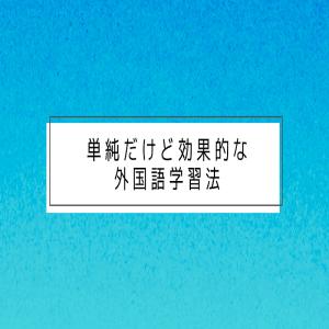 単純だけど効果的な外国語学習法(脳の仕組み)