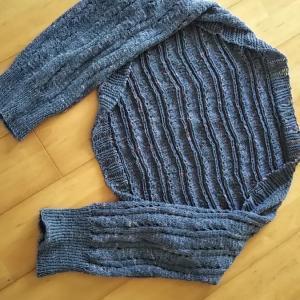 マーガレット編み上がり、靴下着々と