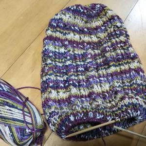 明日には編み終わるはず。そしてカボチャ