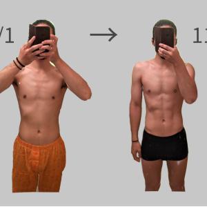 ダイエット1ヶ月間の体の変化