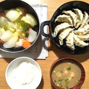 餃子+蒸し野菜