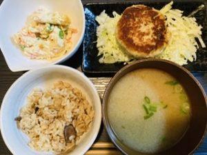 おからレシピ ハンバーグ&サラダ