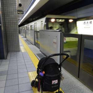 電車で鶴見緑地へ
