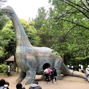 デカすぎる!恐竜滑り台で子ども達のテンションがMAX!【千葉県柏市の手賀の丘公園】