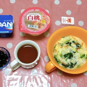 朝シャワー😊 絹ごし豆腐と鶏そぼろのトロトロ煮・ツナサラダ 7月23日の食事