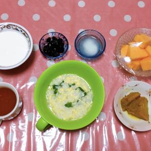感染拡大😱 卵雑炊・青梗菜とエビと沖縄豚のパスタ・親子煮・カボチャの煮付け・手羽先焼き 7月27日の食事