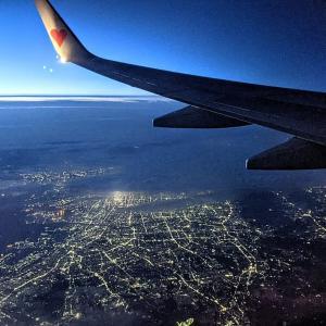 スカイマークで福岡から東京へ 9日間の旅の後記と楽しいおみやげ探し(福岡空港→羽田空港)