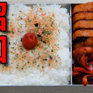 【昭和風の弁当】 子供が大好き!! 魚肉ハンバーグとタコさんウインナーの弁当