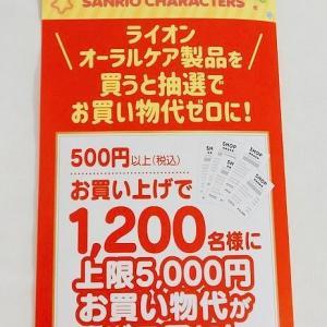 【当選報告】マツモトキヨシ×ライオン共同企画お買い物代0円になっちゃう!キャンペーンに当選