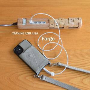 Fargo◇インテリアにも馴染む木目調・便利なUSB&回転延長タップ【PR:TAPKING USB 4.8A】