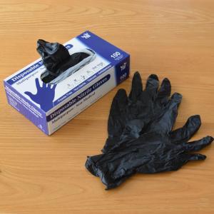 サイズを選べる食品対応使い捨て手袋◇家事からガーデニングまで衛生的で便利です【PR:ニトリルグローブ 100枚 黒 Lサイズ】