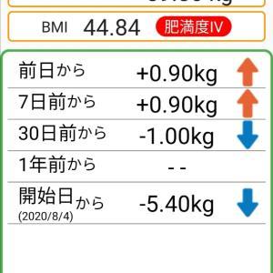 体重記録65日目