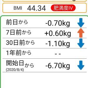 体重記録74日目
