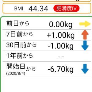 体重記録75日目
