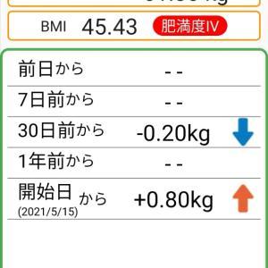 体重記録32日目