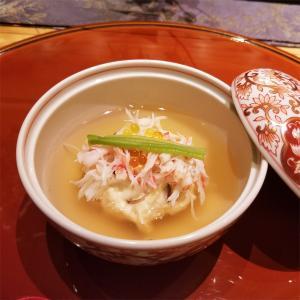 【焚合せ】初夏の根菜とずわい蟹。 美味出汁餡仕立て。
