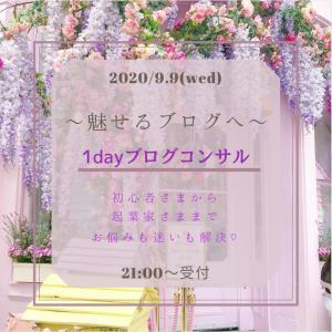 ◉【満員御礼】1月枠ブログ1dayコンサル