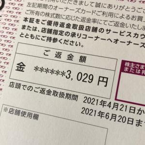 【株主優待】イオンの優待返金引換証