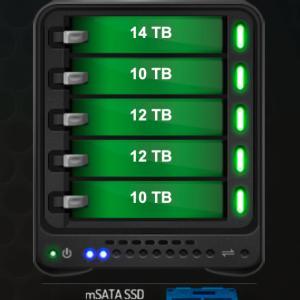 DROBO 5D から DROBO 5D3 へHDD 移行