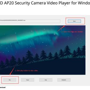防犯カメラ、IPカメラの録画ファイル RAWファイルの観覧、変換方法